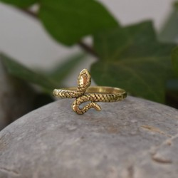 SNAKE RING BRASS