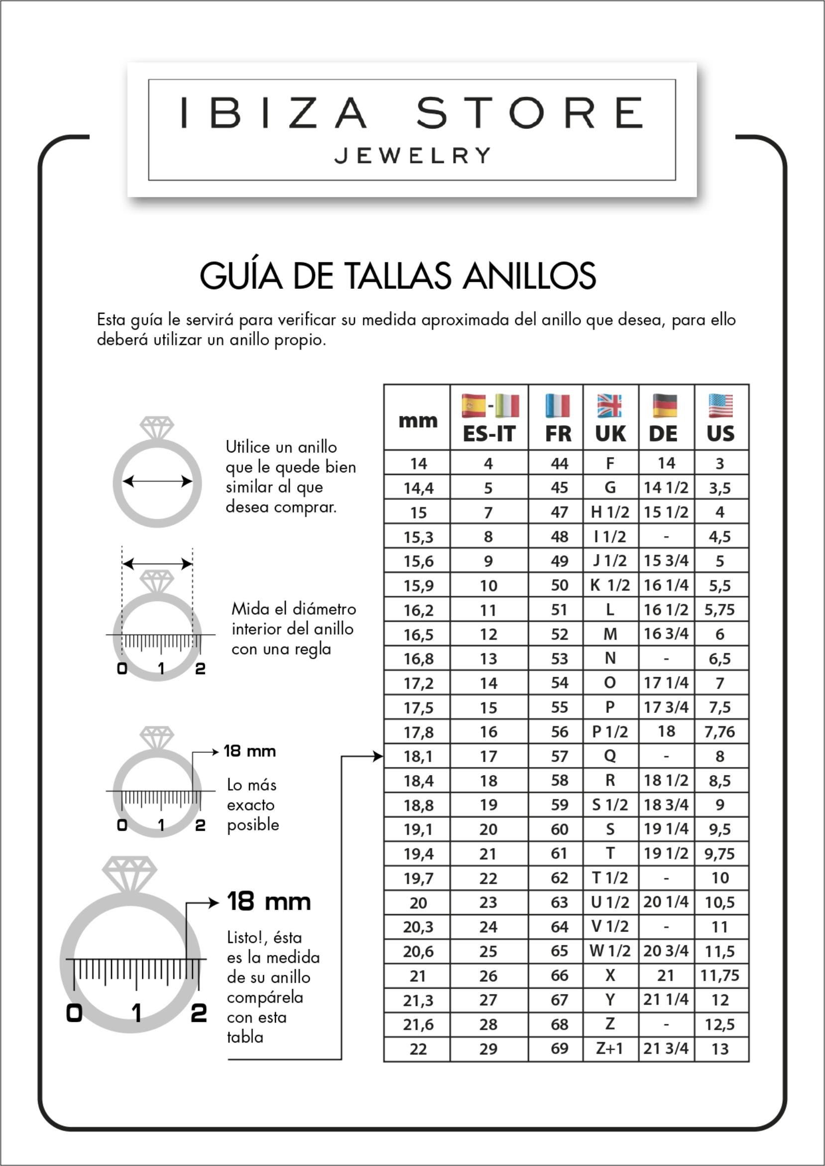 GUIA DE TALLAS ANILLO